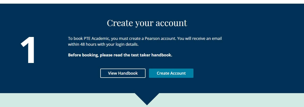 Create Account for PTE academic