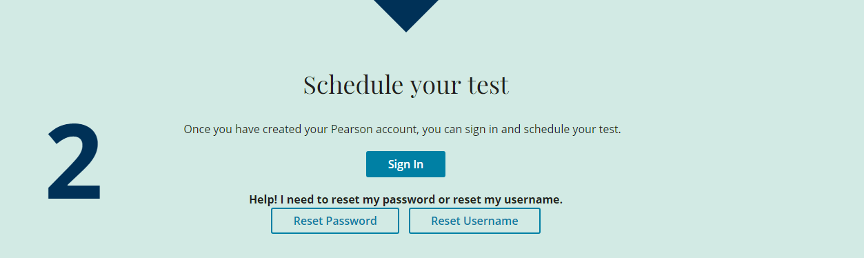 create an account on pearsonpte.com