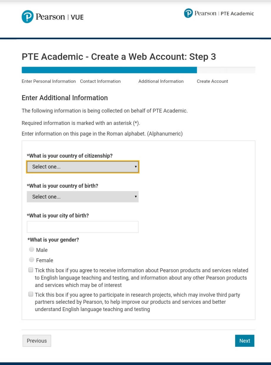 book PTE Academic using PTE Voucher